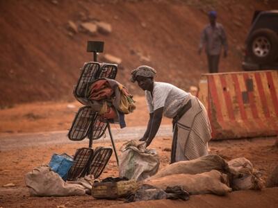 Frau in Uganda